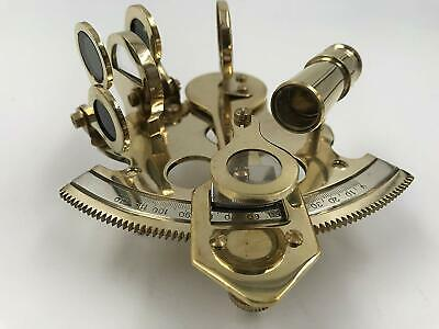 "Nautical Brass Hand-Made 4"" Sextant 