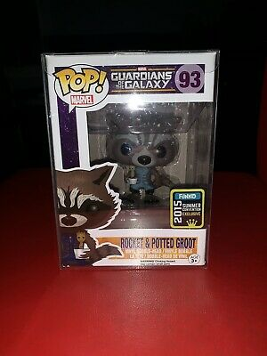 Funko Pop! Guardians of the Galaxy 93 Rocket & Potted Groot SDCC 2015 Exclusive