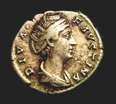 FAUSTINA Senior. Wife of Antoninus Pius. DENARIUS. AETERNITAS. Juno.