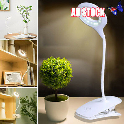 EYE PROTECTION LED Flexible USB Reading Light Clip-on Bed Table Desk Lamp AU