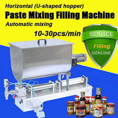 Paste Filling Machine with Mixer and Hopper,automatic Single Head Filler,1000ml