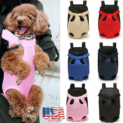 Pet Carrier Backpack Cat Dog Puppy Legs Out Front Adjustable Travel Hiking Bag