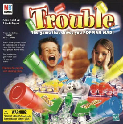 Trouble  The Family Fun Classic Interactive Board Game MB Games