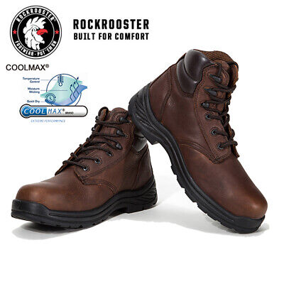 Men's Safety Work Boots Composite Toe Waterproof Leather Shoes ROCKROOSTER USA