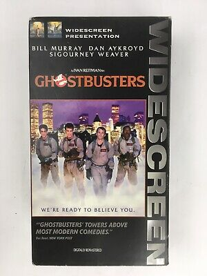 Ghostbusters 15th Anniversary Widescreen Edition Rare VHS