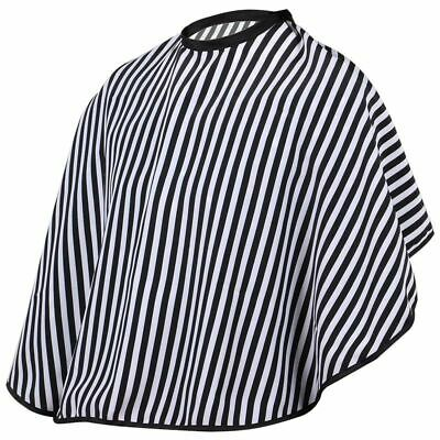 Hair Cutting/Barbers Cape - Adjustable Black and White Stripe Hairdressing  A7M9