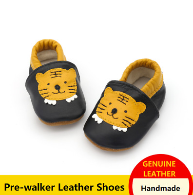New Soft Sole Leather Baby Infant Toddler Boys Shoes Prewalker Size 0,1,2