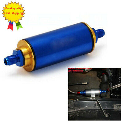 Universal Racing Aluminum Blue AN10 High Flow Fuel Filter N//A Turbo Super Charge