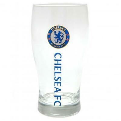 Chelsea FC Official Football Gift Beer Pint Glass Fathers Day