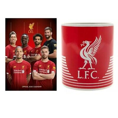Liverpool FC 2020 A3 Calendar and Mug Cup Christmas Gift Set Official Licensed