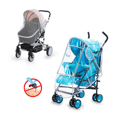 Universal Baby Stroller Rain Insect Cover Canopy Mosquito Net for Pram Pushchair