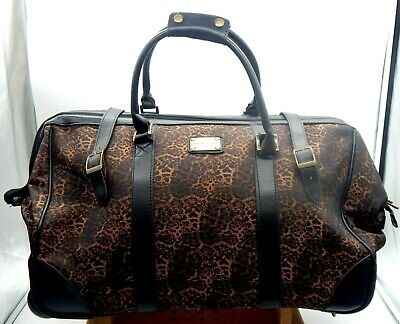 """Adrienne Vittadini 22"""" Rolling (4) Wheel Expandable Duffel Bag Carry-On"""