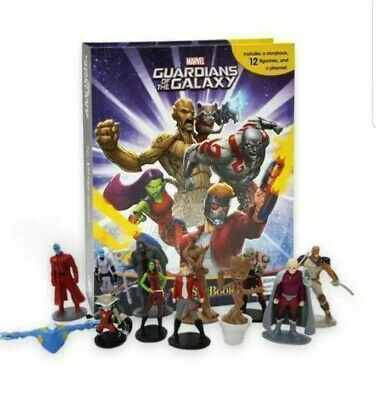 Marvels GUARDIANS OF THE GALAXY Busy Book including 12 plastic figu... by Phidal