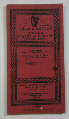 1948 Old OS Ordnance Survey Ireland One-Inch Second Edition Map 11 Londonderry