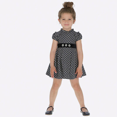 New Mayoral Girls Jacquard Polka dot dress, Age 2 years (4932)