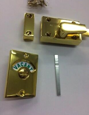 Toilet Indicator Lock Bolt Vacant Engaged Lock Bolt Vintage Brass Style Bolt