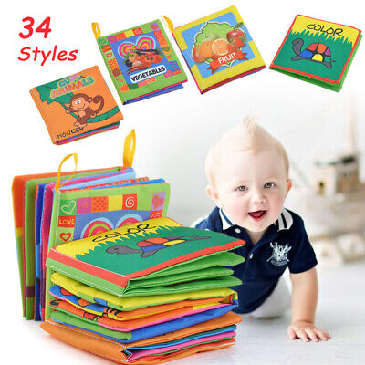 Newborn Kids Baby Cloth Cognize Book Intelligence Development Educational Toy