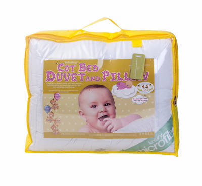 CotBed Duvet Quilt Pillow Top Quality Anti-Allergenic Toddler Baby 4.5,7.5,9 TOG
