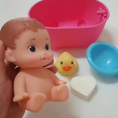 Baby Doll in Bath Tub with Floating Water Squirt Set for Kids Role Play Toy