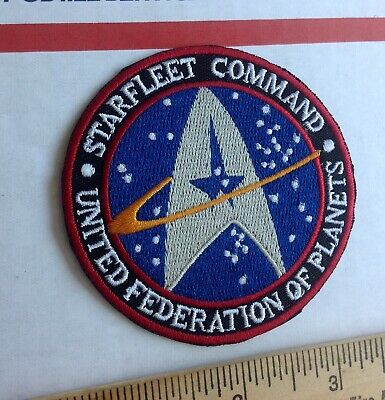 STAR TREK Starfleet Command Logo  Embroidered Patch 3 inch iron on