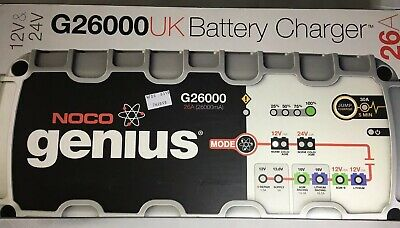 NOCO Genius G26000 UK 12V / 24V 26A UltraSafe Pro Series Smart Battery Charger
