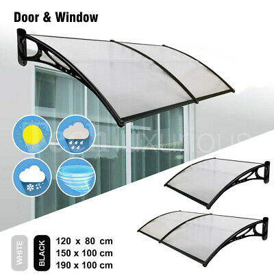 Door Canopy Awning Shelter Front Back Outdoor Porch Patio Window Roof Rain Cover