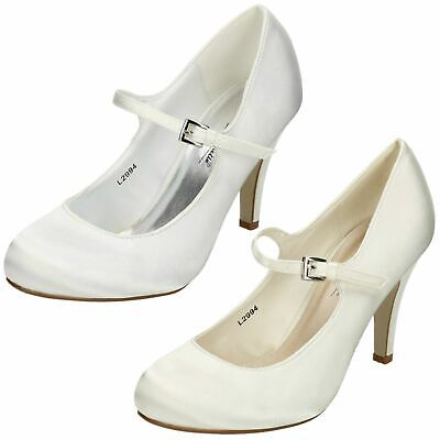 Ladies Anne Michelle Heeled Court Shoe Cut Out Side and Open Toe F10753