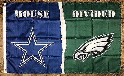 Dallas Cowboys vs Philadelphia Eagles House Divided Flag 3x5 ft NFL Banner New