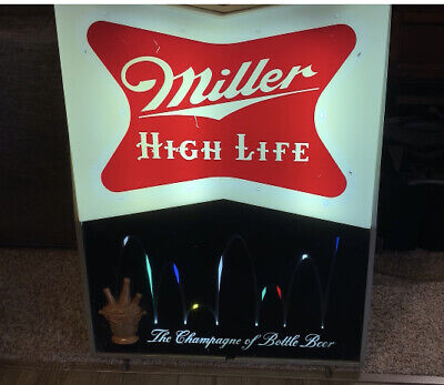 Miller High Life Bouncing Ball Window Display Lighted Sign HUGE! RARE! Motion.