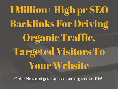 Drive Organic Traffic, Targeted Visitors to Your Website Targeted Visitors