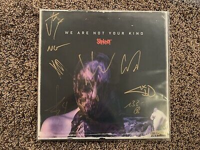 Slipknot Full Band Autographed We Are Not Your Kind Vinyl Album Inc.corey Taylor