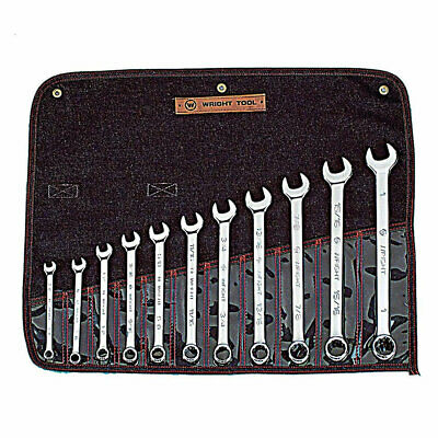 "Wright Tool 911 Full Polish 12 Point Combination Wrench Set 3/8"" - 1"" (11-Piece)"