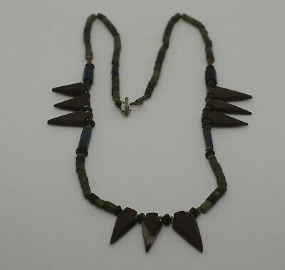 Ancient Carved  Bead Necklace - 0813