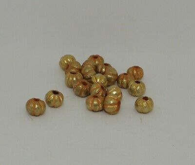 20 X Post Medieval Gold Beads - 021344