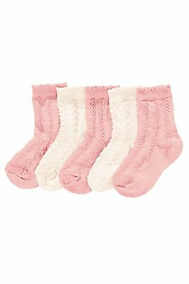 Bnwt Next Textured Socks Five Pack Size 9-12