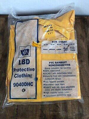 LBD PROTECTIVE CLOTHING, SAFETY COLOR, Extra Large XL -9040DHC PVC Rainsuit