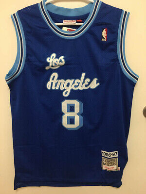 NWT Kobe Bryant #8 Los Angeles Lakers Blue Men's Stitched Vintage Retro Jersey