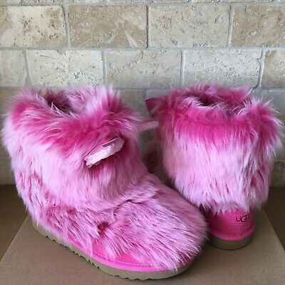 Details about UGG Classic Short II Glitter Sparkle Pink Boots Youth Kids Girls 6 = Womens US 8