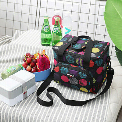 10L Insulated Cooler Lunch Bag Camping Picnic Box Shoulder Thermal Double Layer