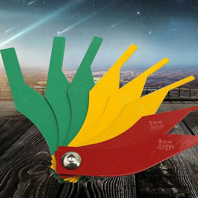 8C2D Tool Wear Gauge Universal Ruler Automotive Thickness Gauge Security 8 in 1