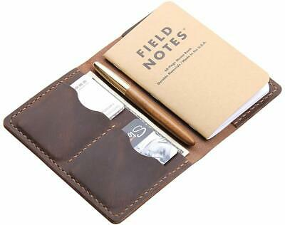 """Leather Journal Cover for Field Notes Moleskine Leather Cover for 3.5""""x5.5"""" book"""