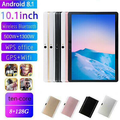 DE 10.1 ZOLL Tablet Android8.1 Bluetooth PC 8+128G ROM 2SIM GPS Phone Pad IPS BC