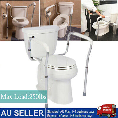 Toilet Safety Frame, Bathroom Safety Rail With Toilet Seat Assist Handrail Grab
