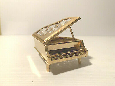 Grand Piano ~ 24K Gold Plated, with Swarowski Crystals ~ No Tag ~ Lovely