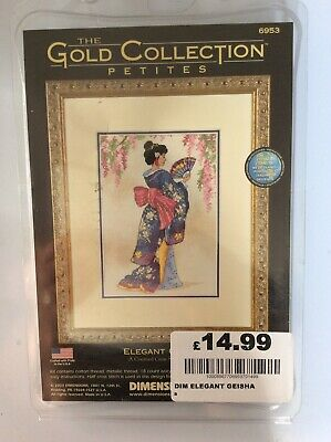 D06953 Elegant Geisha Counted Gold Cross Stitch Kit Dimensions