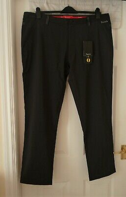Dwyers & Co. Fleece Lined Water Resistant Mens Golf Trousers Black