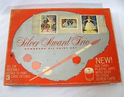 Vintage Silver Award Paint by Numbers Ballerina Ballet Theatre - ONLY 2 Canvases