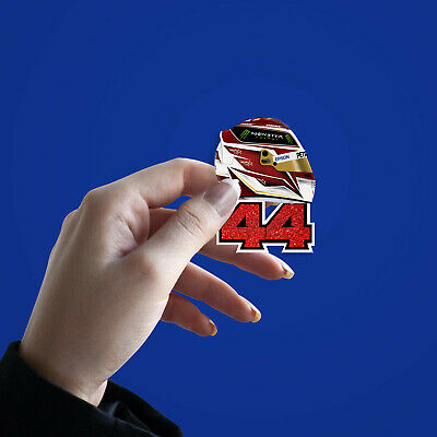 Lewis Hamilton 44 2019 F1 Helmet Sticker - High Quality Digital Illustration