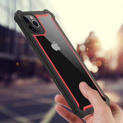 For iPhone 11 Pro Max XS XR X 8 7 Plus 6s Shockproof TPU+PC Hybrid Hard Case