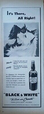 1974 BLACK /& WHITE Scotch Cute Scottish Terrier Dogs Christmas Tree VINTAGE AD